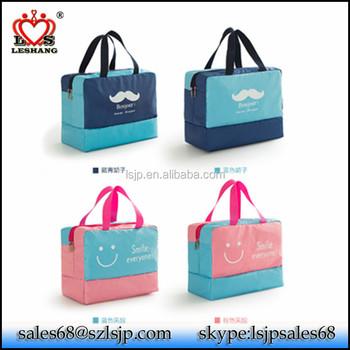 6772d09b270a Hot 600D practical wet dry clothes separate kept dual purpose travel  storage bag gym bag