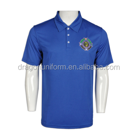 SEDEX Audit Factory Cotton Polyester Blend Customized Logo Printed Casual Golf Polo Shirt