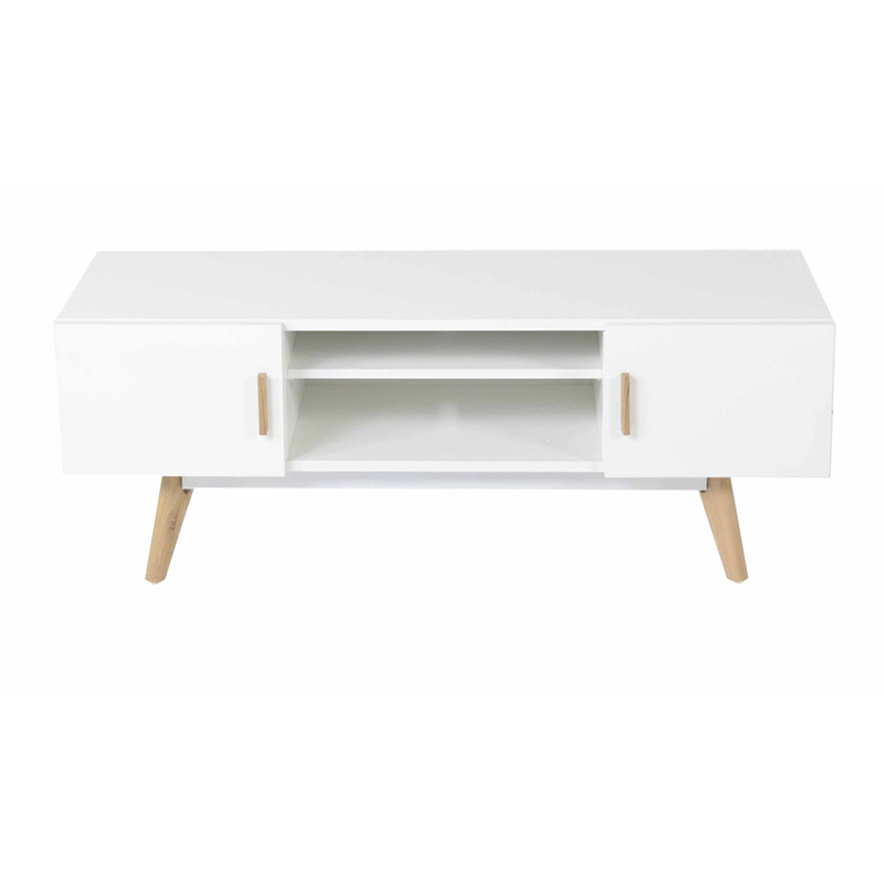 White Corner Modern Tv Unit Cabinet
