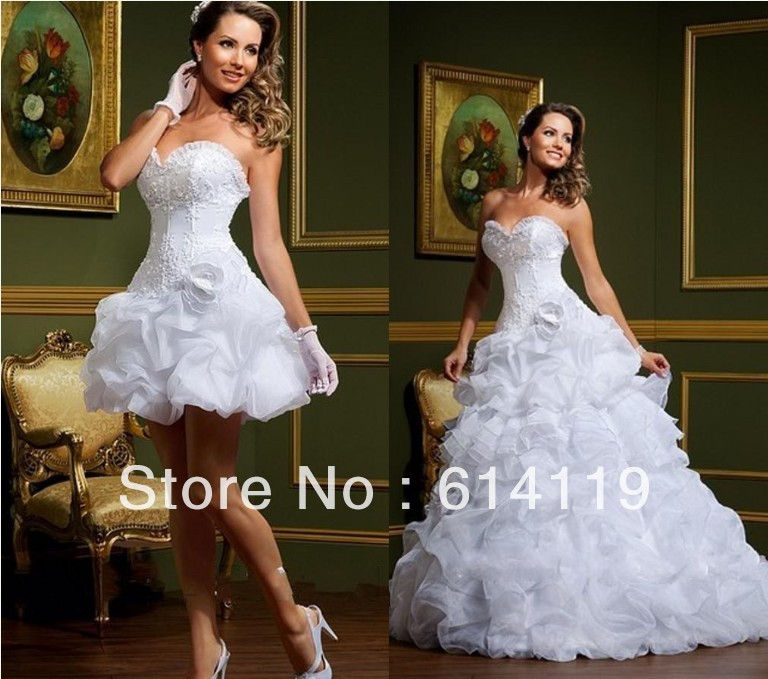 Hot Selling Fashion Detachable Skirt Wedding Dress Ball