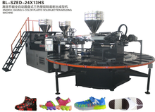 Rotary Type Automatic Air Blowing Plastic Shoes Injection Moulding Machine