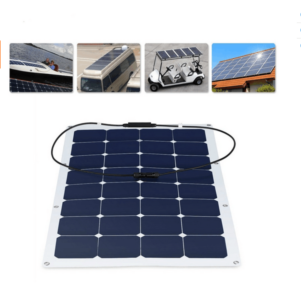 100Watt Waterproof <strong>CE</strong> ROHS Full Certificate Semi Flexible Solar Panel
