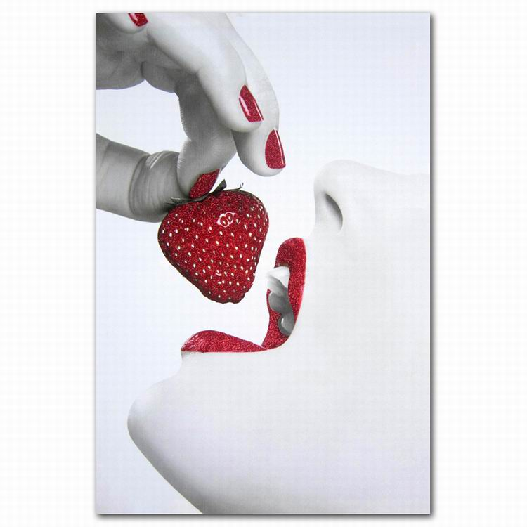 Large format modern sexy girl with strawberry canvas printing wall <strong>art</strong>