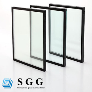 22mm double glazed hollow glass panels ,8mm+6A+8mm insulated glass
