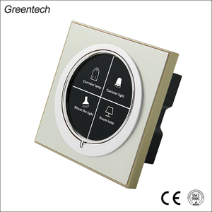 Luxury Hotel Golden Aluminum Light Touch Electronic On Off Switch