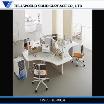 Elegant Office Commercial Desk Furniture Multiple Office Desk Set
