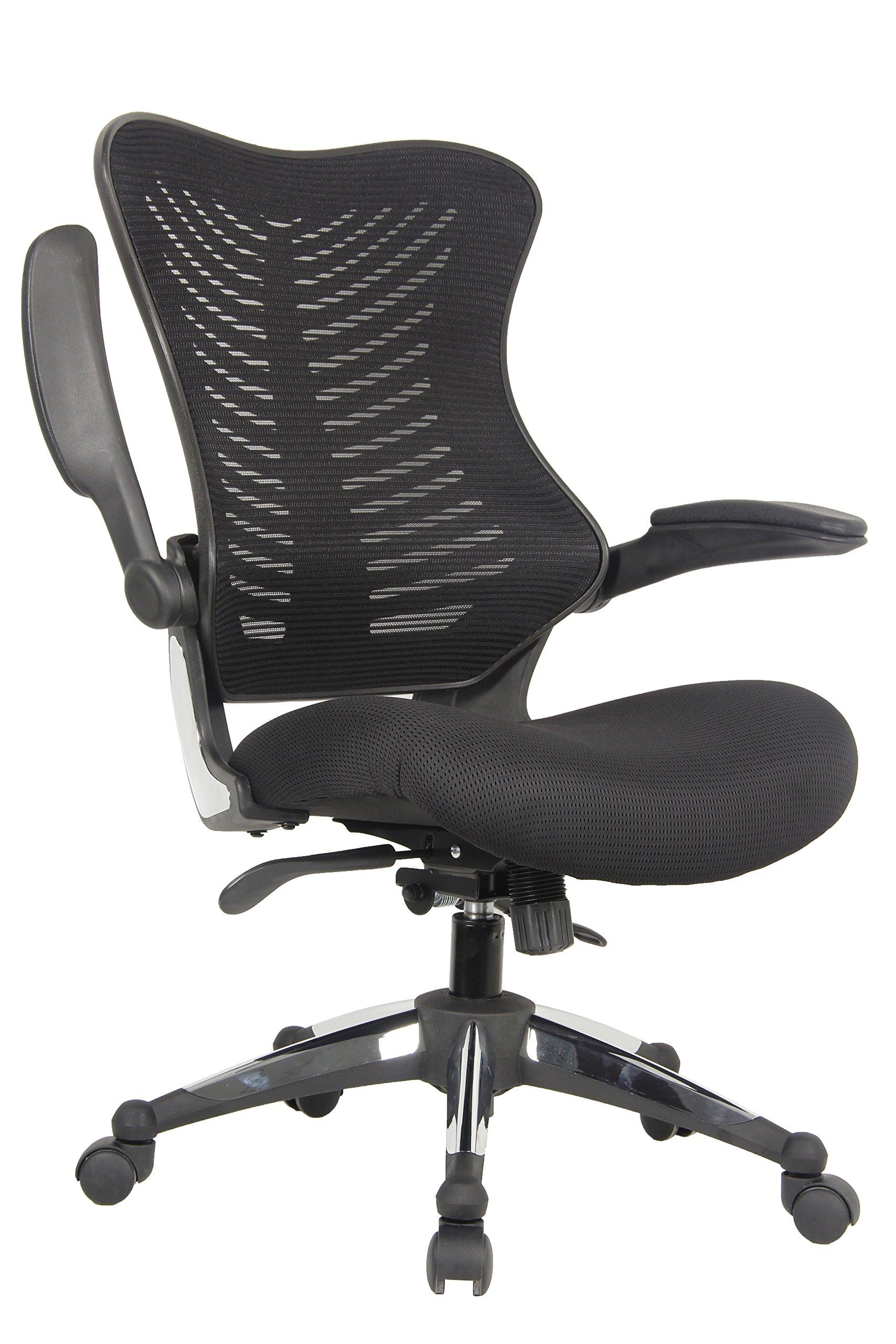 Buy Office Factor Bonded Leather Black Office Chair, Desk