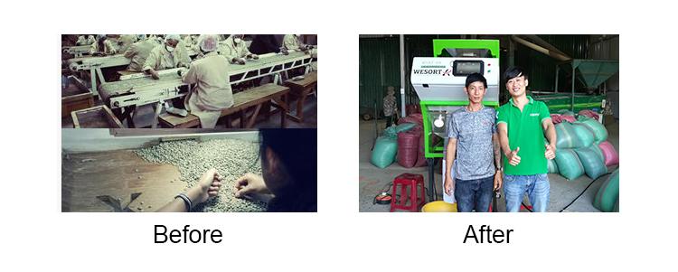 Separador de Casca de café Grão de Café Máquina de Remoção Da Pele Na Indonésia