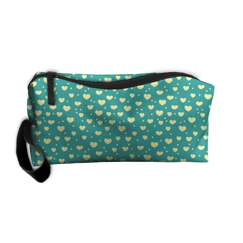 White Love Floral Pencil Pen Case Box Cosmetic Makeup Bag Storage Pouch Purse