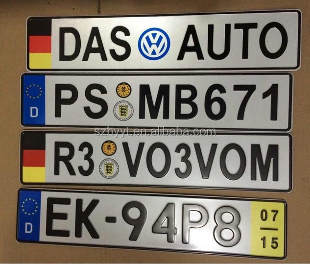 product detail custom license plate car tag high quality best price