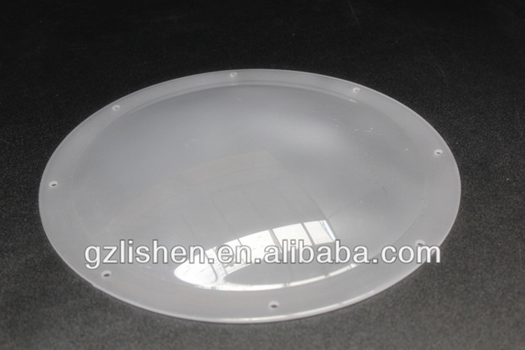 Diffuser Plastic Half Round Flat Dome Lamp Shade