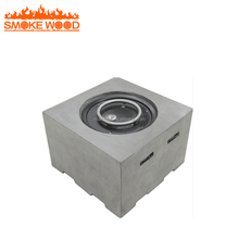 Square Steel Firepit Outdoor Gas Fire Pit Table MGO With Stainless Steel Burner