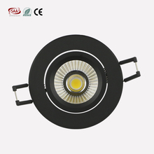 Best selling led ceiling lights Black&white casing Adjustable 5w cob led spotlight with 400lm scr dimming