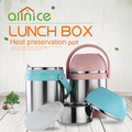 Heat preservation stainless steel food bento lunch box/food storage container thermo pp lunch pot