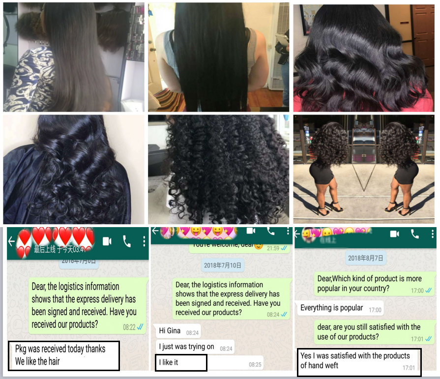 100% unprocessed virgin brazilian hair no shedding hair extensions with fish no glue