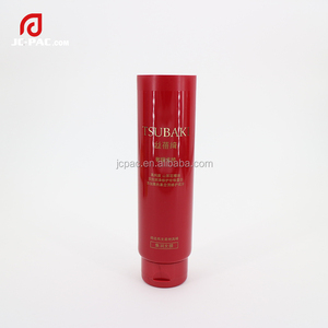 Soft tube top supplier 110ml hair care plastic round tube hair cream foam empty cosmetics packaging