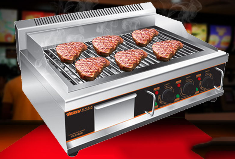 Stainless Steel Commercial Electric Lava Rock Barbecue Grill