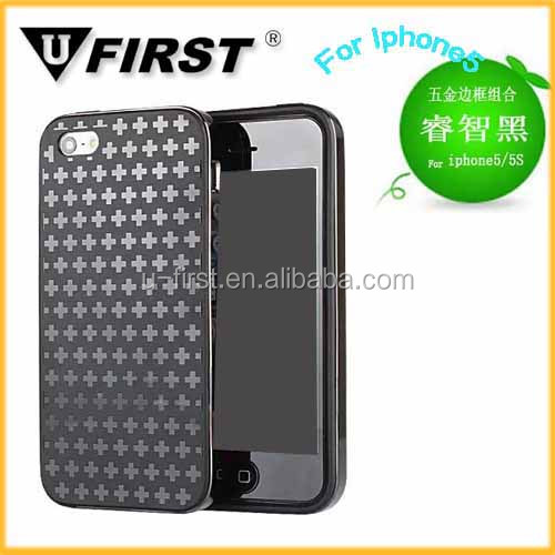 TPU+Metal Material Cell Phone Case For Iphone5/5s