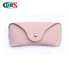 Customized litchi grain pink glasses soft bag goggles case sunglasses soft case