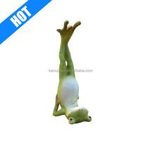 Custom Resin Polyresin Animal Yoga Frog Figurine