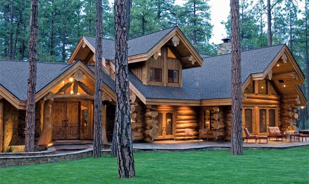 Prefabbricata in legno casa di tronchi immagine case for Case di legnosr