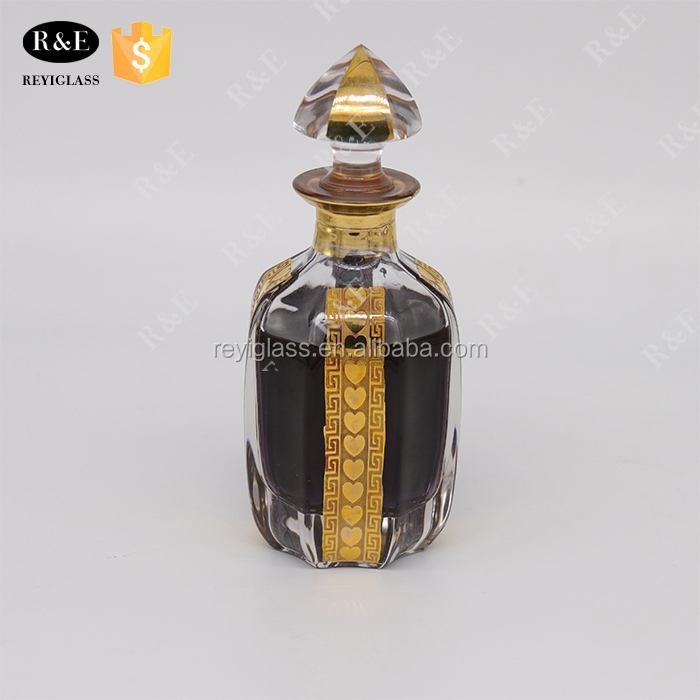 attar oud perfume glass bottle in guangzhou wholesale