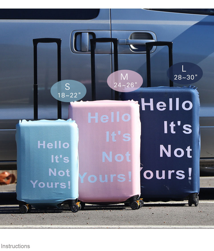 Trolley Luggage Cover Thick Wear-resistant Waterproof High Elasticity Spandex Protective Cover