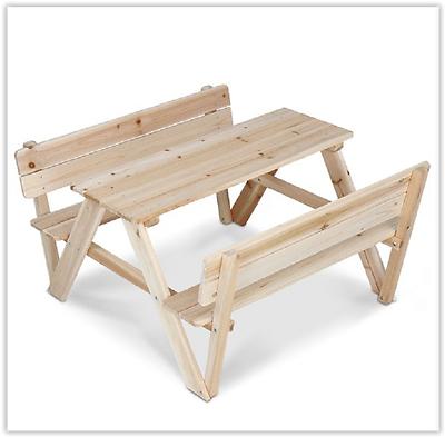 Meubles en bois banc de jardin pour enfants patio jouer enfants table en plein air ensemble - Table jardin enfant bois ...