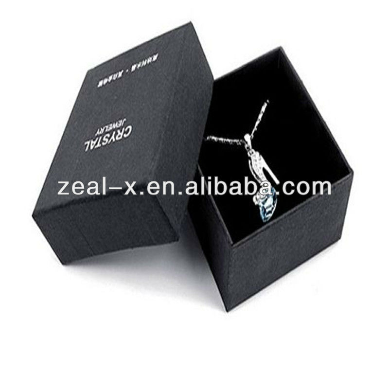 black film elegant design jewel pendant packaging box