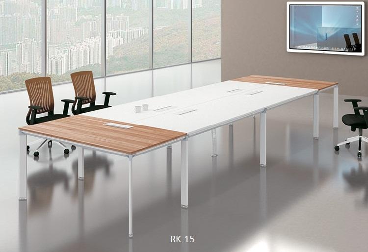 De lujo moderno de lujo de formica de oficina de madera de muebles modulares ejecutivo puestos de reunión de la Conferencia de escritorio de la tabla de modelos en panel MFC