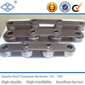 Standard steel long pitch 152.4 large roller type sugar mill offset bar cane bagasse carrier conveyor drag roller chains