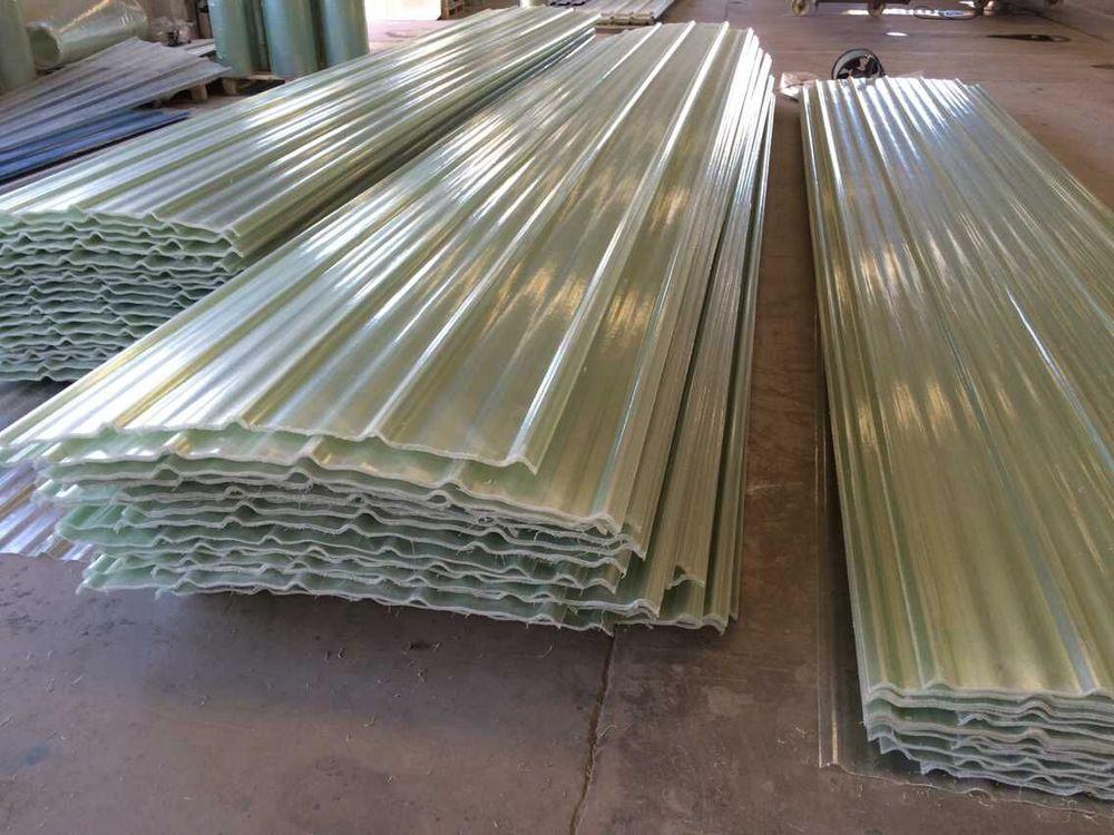 FRP Wave Plate , Fiberglass Roof Corrugated Sheet GRP Wave Board