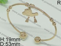 High quality individual customize jewelry rose gold house baby design originals bangles