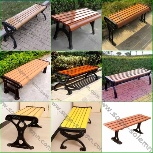 Lovely Heavy Duty Street Bench, Commercial Outdoor Bench With No Back