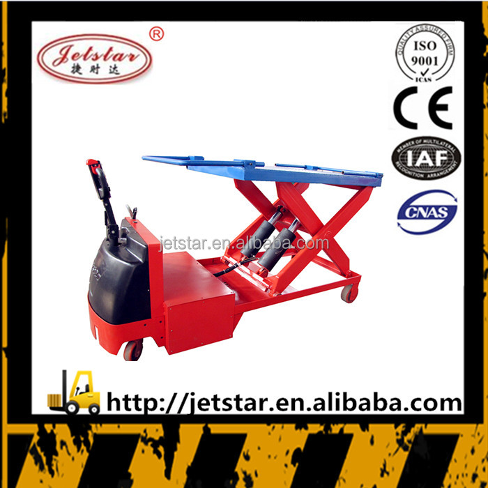 Live photos save labour battery operated lift platform pallet truck