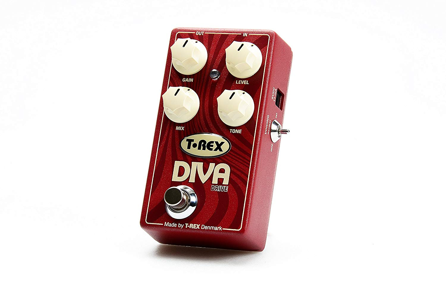 T-Rex Engineering DIVA-DRIVE Overdrive Guitar Effects Pedal with 3-Way Bass Boost (10089)