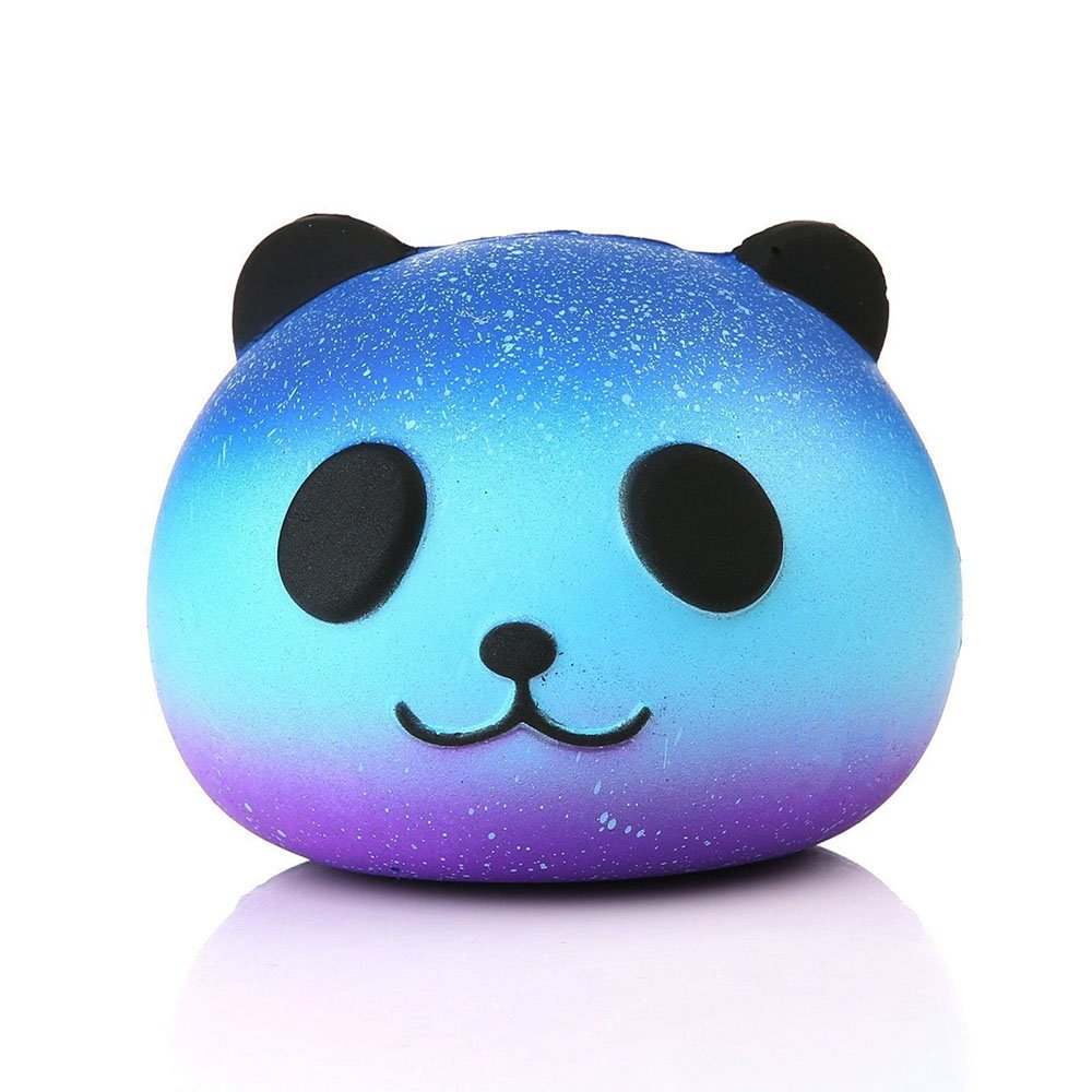 Aisikasi Cute Squishies Slow Rising Soft Squishies Charms Starry Sky Stool Panda Fun Toys for Stress Relief and Time Killing (Panda A)