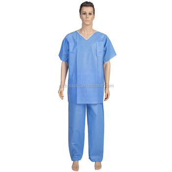 bc9fa0db5 Xxxl Sms Uniformes De Hospital Médico Paciente Desechable - Buy Bata ...
