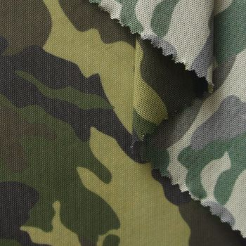 breathable camo printed nylon spandex camouflage mesh fabric for sports
