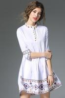 hand embroidery women clothing 2017 boho clothing women's dress