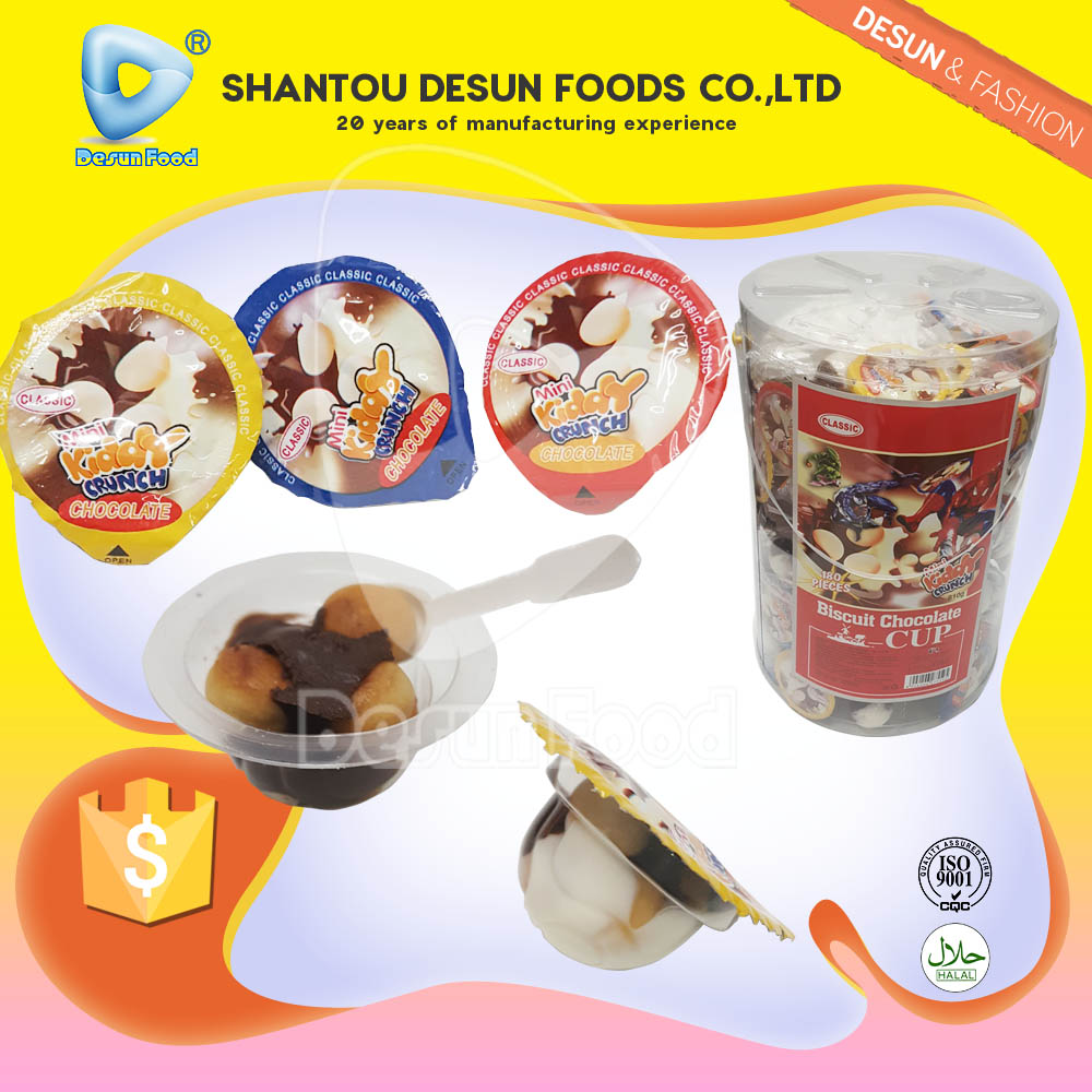 kids favourite chocolate biscuit chocolate and biscuit in cup china supplier