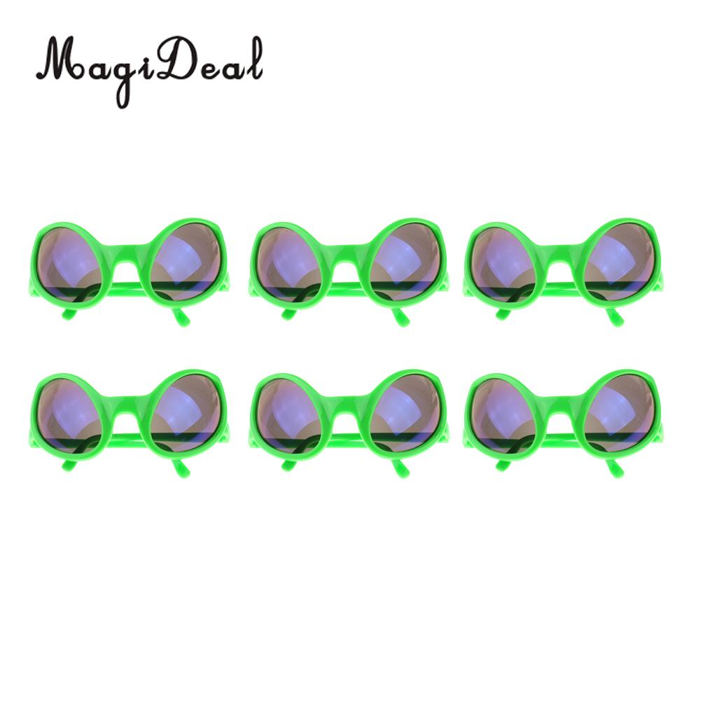 7c0209e66c8 MagiDeal 6 Pieces Green Alien Sunglasses Party Glasses Fancy Dress Costume  Role Play Holiday Halloween Christmas