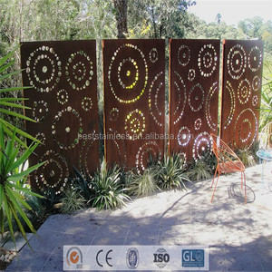 Exterior Wall Panel Decorative Wrought Iron Screen Garden Divider