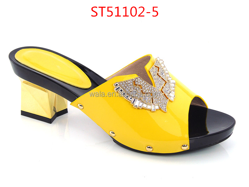 women blue 2016 ST51102 slippers shoes square heel fashion sandals for 1 vwF5F