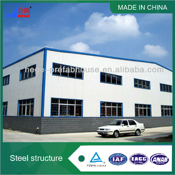 steel frame prefab warehouse