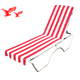 Alibaba China Wholesales Customized Printed 100% Cotton Beach Bench Towel