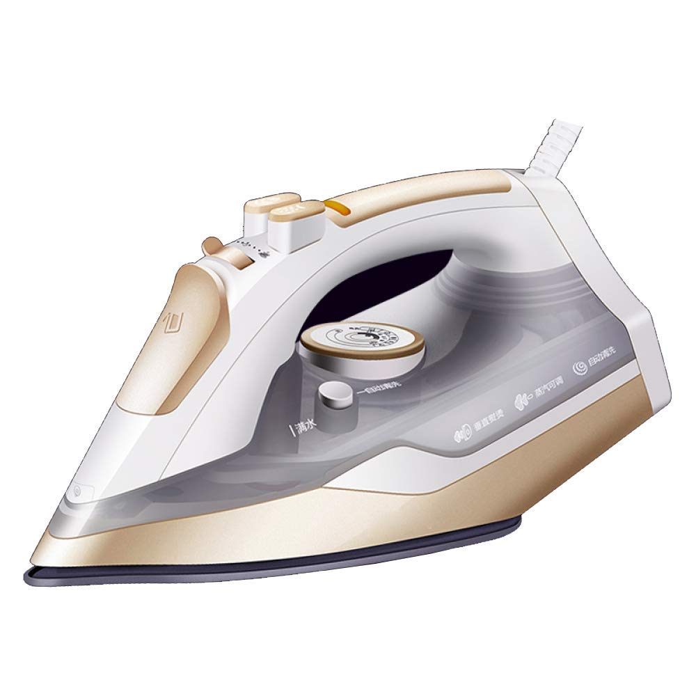 CDREAM Household Small Steam Steam Comfort Mini Electric Iron Hand-Held Portable Clothes Ironing Machine 2000W,Gold