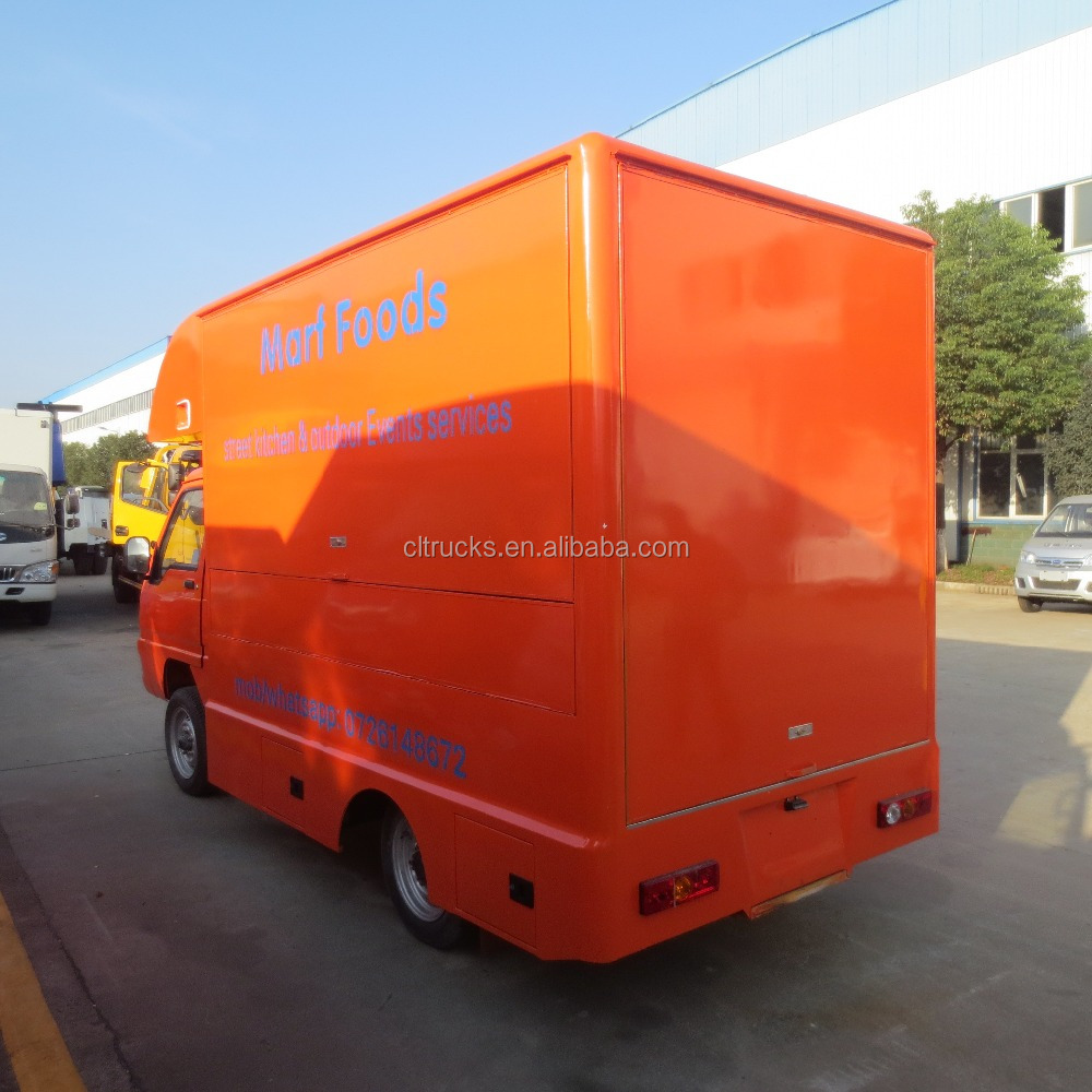 Multifunctional fast food truck/street legal electric car/mobile food vending truck for sale