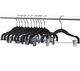 2017 assessed kids hanger Velvet Space Saving Non-Slip Coat Hanger with clips