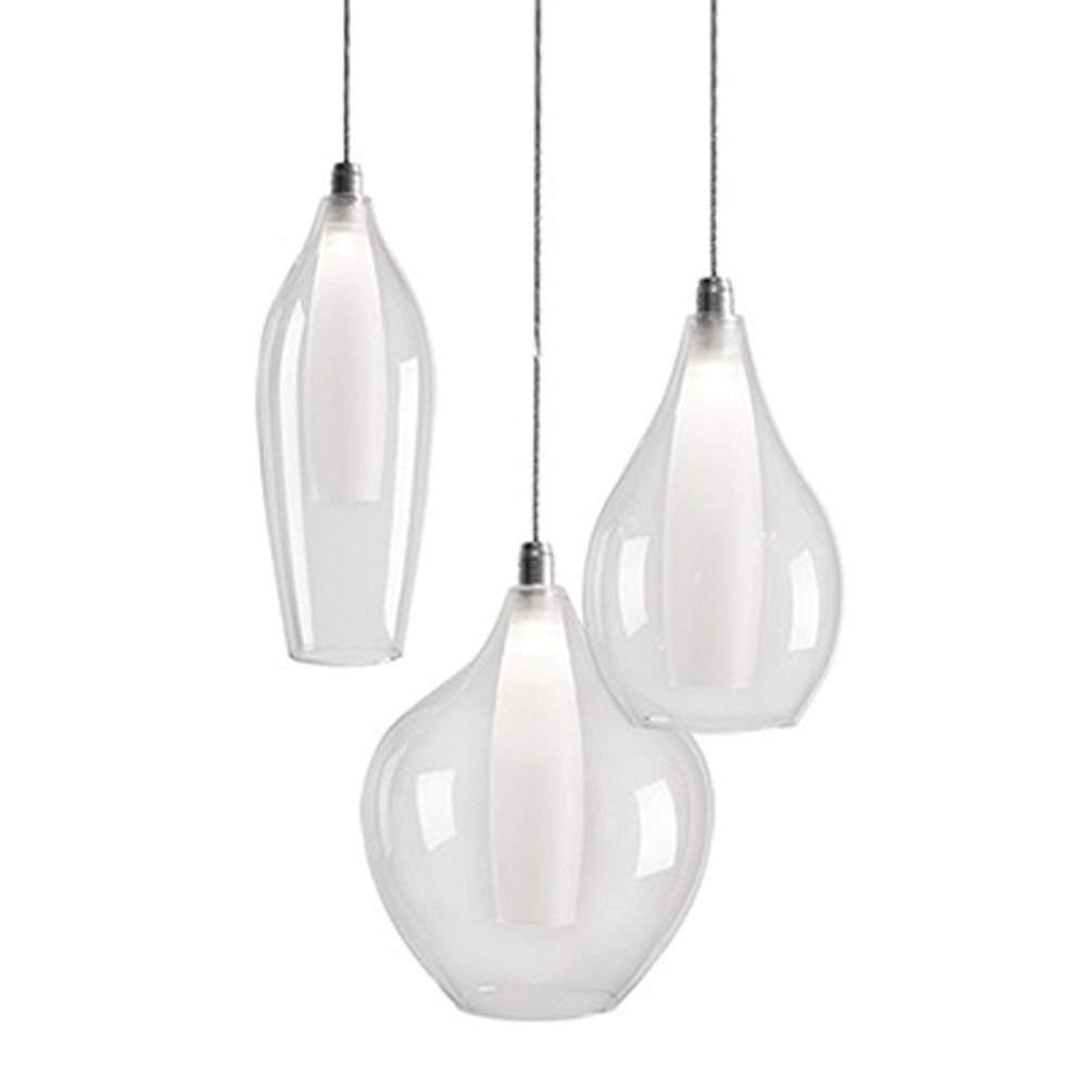 Kuzco Lighting Victoria Chrome LED Multi-Light Pendant with Bowl/Dome Shade